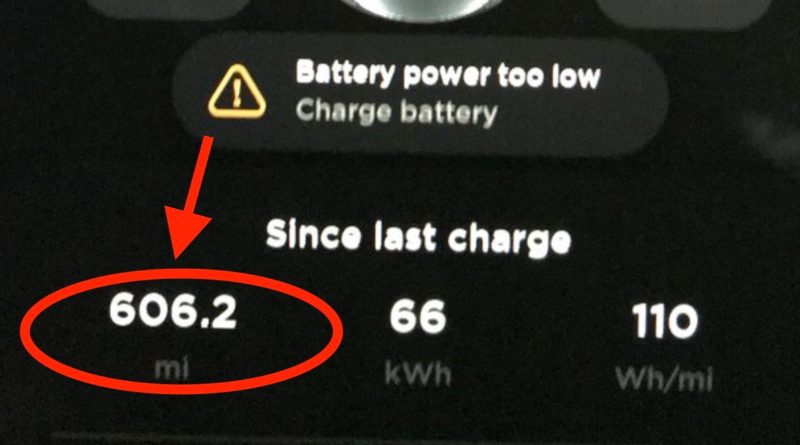 Tesla Model 3 travels 606 miles on a single charge in new hypermiling record